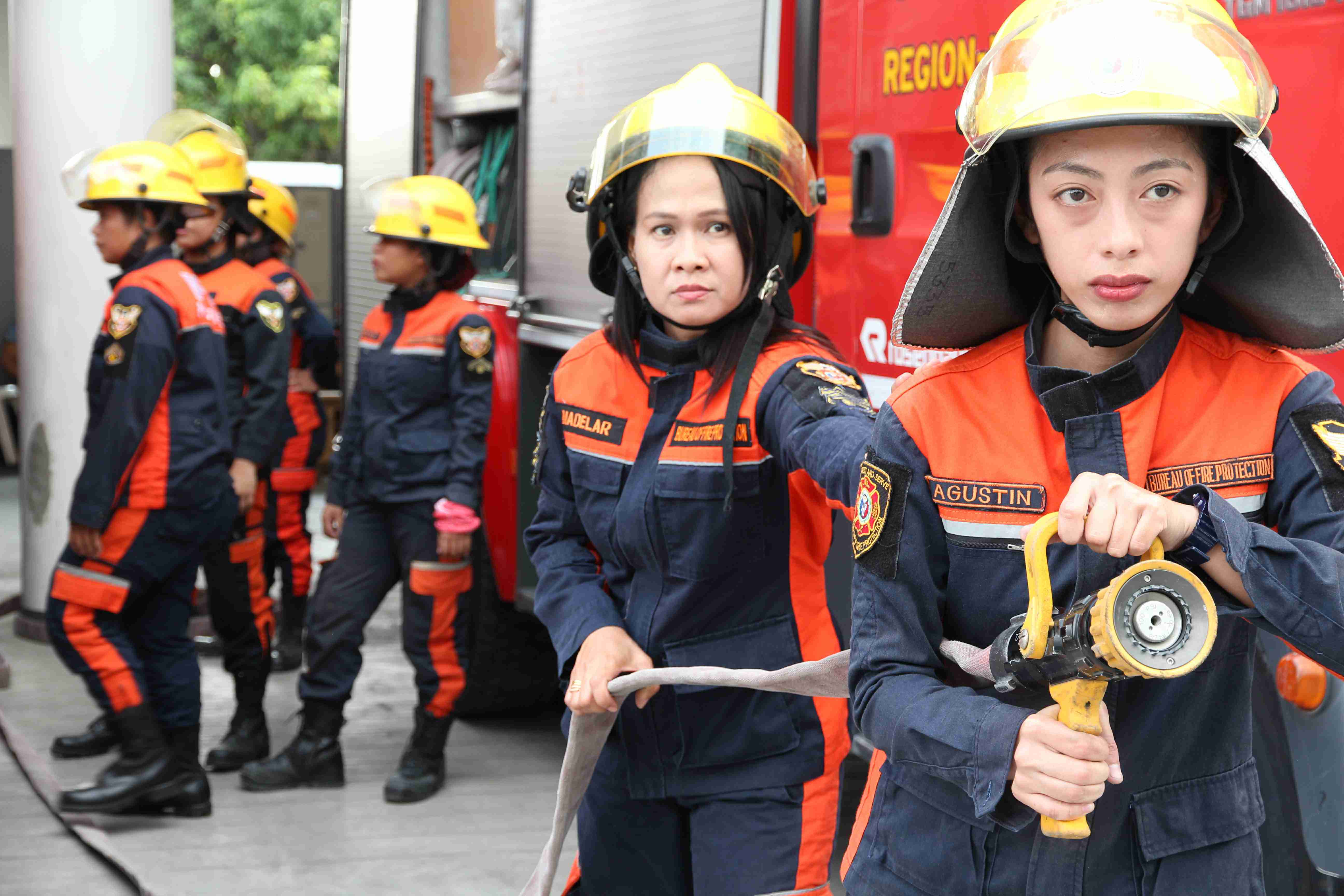 What is a female firefighter called